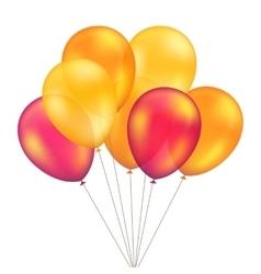 Red Orange Yellow Balloons Set Isolated vector