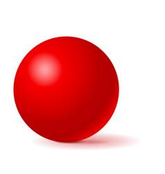 Red sphere 3d geometric shape vector