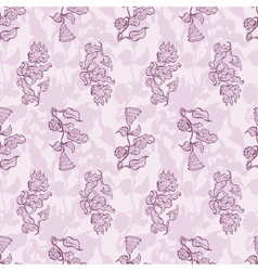 Seamless floral background flower vector