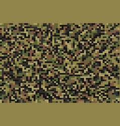 Seamless forest pixel camouflage vector