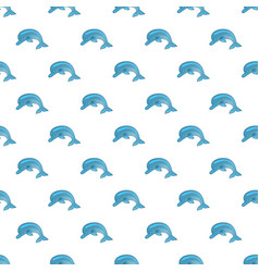 seamless pattern with dolphins cute marine vector image