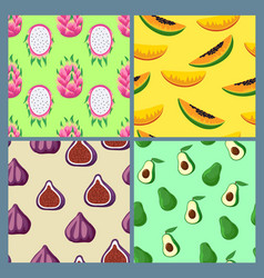 Set colorful cute patterns with exotic vector