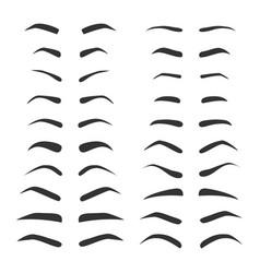 Set of monochrome eyebrows vector