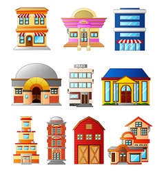 Set several buildings vector