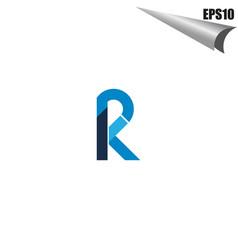 simple pk initial monogram design template vector image