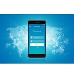 Smartphone Social Network vector image