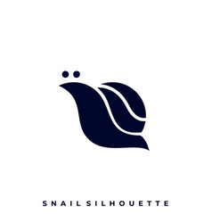 snail silhouette template vector image