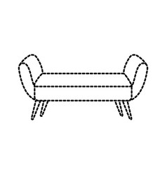 Sofa divan or couch elegant furniture icon style vector