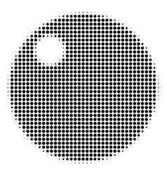 Sphere halftone icon vector