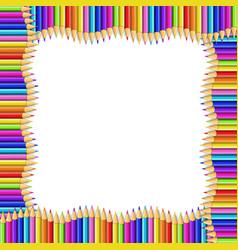 square wavy border made of multicolored vector image