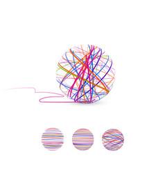 Tangle ball thread vector