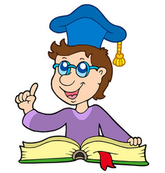 teacher with book vector image