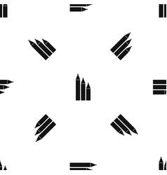 three pencils pattern seamless black vector image
