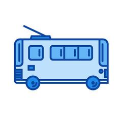 trolleybus line icon vector image