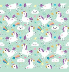 unicorn pattern vector image