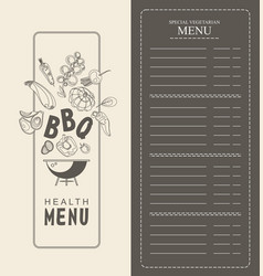 vertical special menu vector image