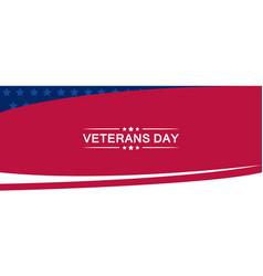 Veterans day banner template vector