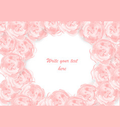 Watercolor greeting wedding rose card vector