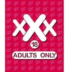 XXx Sign vector
