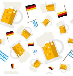beer mugs seamless pattern oktoberfest german vector image vector image