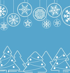 Christmas greeting card with abstract baubles vector image vector image