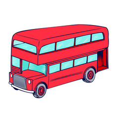 double decker red bus vector image