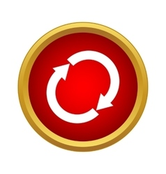 Reload icon simple style vector