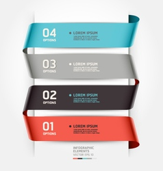 Abstract infographics template ribbon style vector image