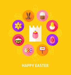 concept happy easter vector image