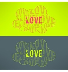 love inspirational background Cute cloud vector image vector image