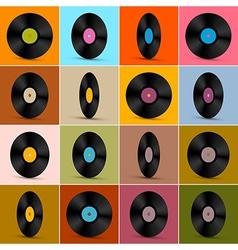 Retro Vintage Vinyl Record Disc Background vector image vector image