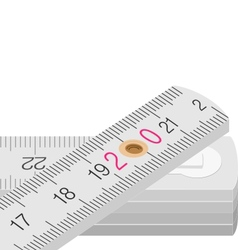 Wooden measure vector image vector image