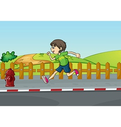 A boy running vector image vector image