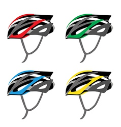 BICYCLE SAFETY HELMET vector image vector image