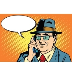 business boss Director says on the phone vector image vector image
