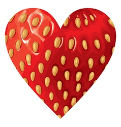 hearts strawberry vector image vector image