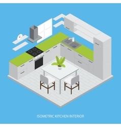 Kitchen Interior Isometric Design vector image vector image