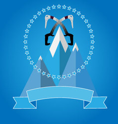 Logo icon badge for mountaineering club vector image vector image