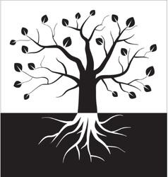 Black and white tree symbol vector image