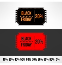 black friday sale ticket Retail discount vector image