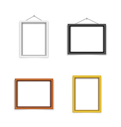 blank photo frame template set vector image vector image