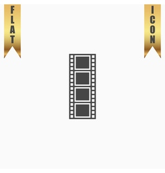 cinematographic film flat icon vector image vector image