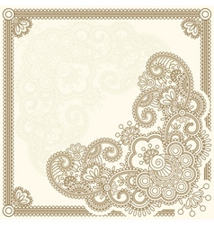 handdrawn henna mehndi abstract flowers vector ill vector image vector image