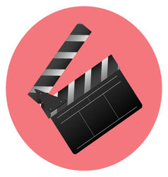 Icon slapstick Cinema item vector image