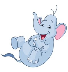 laughing elephant vector image