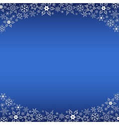 Winter blue frame with decorative snowflakes vector image vector image