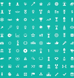 100 award icons vector image