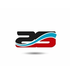 29 anniversary wave logo vector