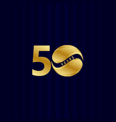 50 years anniversary celebration candy gold vector