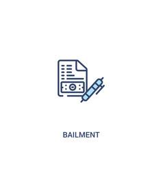Bailment concept 2 colored icon simple line vector